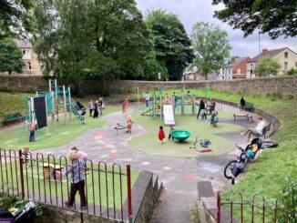 Playground with new flooring- photo by Adam Park.