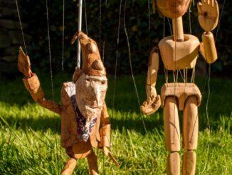 Puppet folks. Photo by James Woollen.
