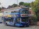 Bus at bus stop.